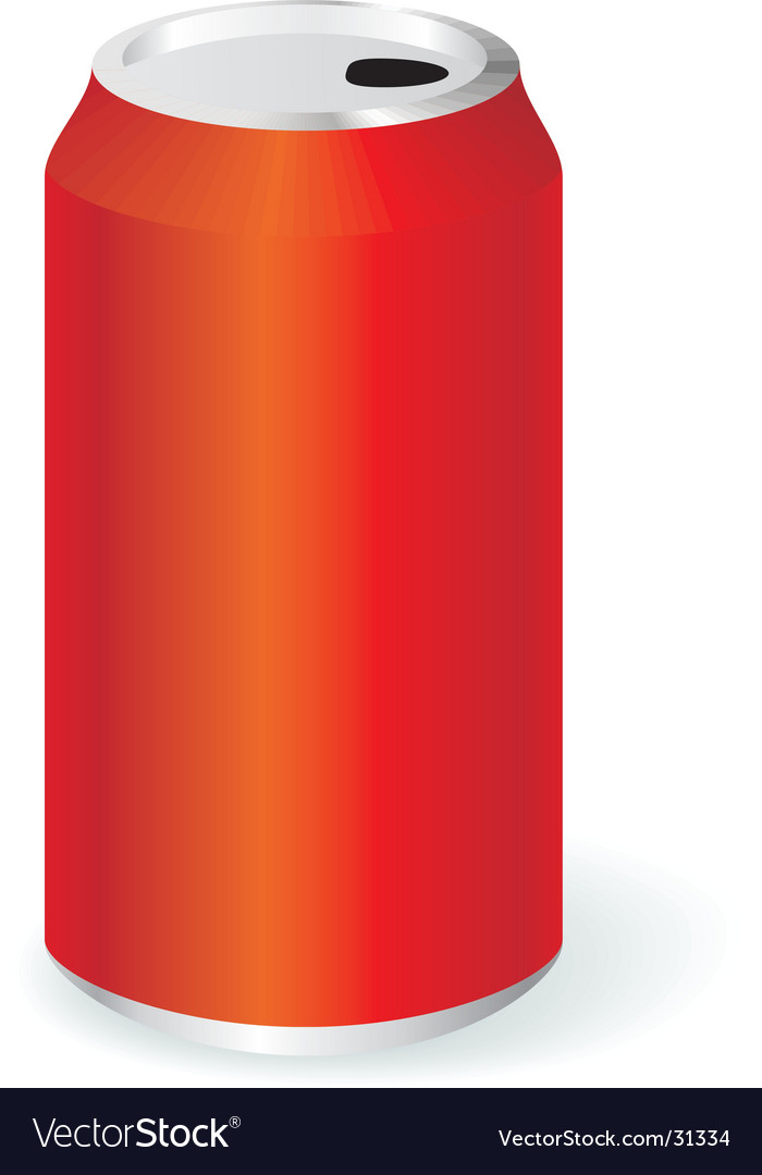 Blank metal can vector