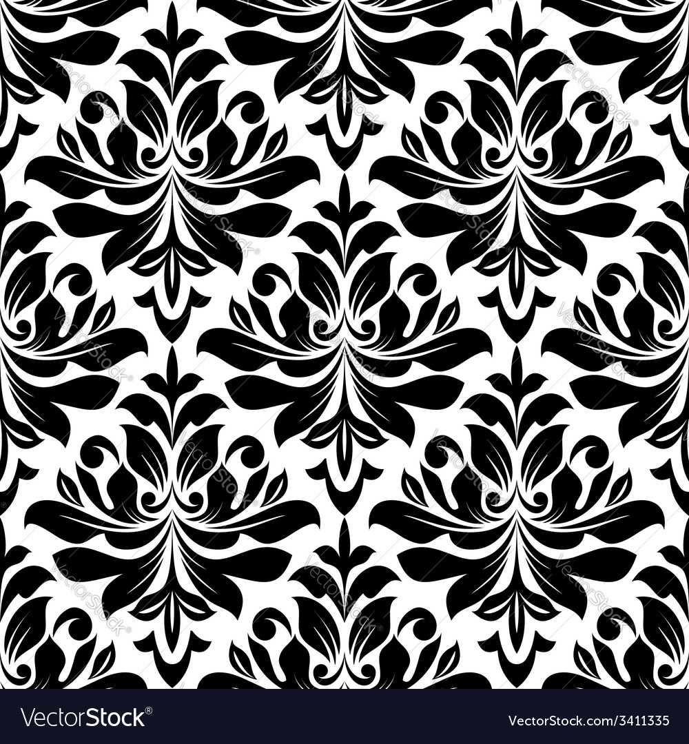 Bold seamless arabesque pattern vector