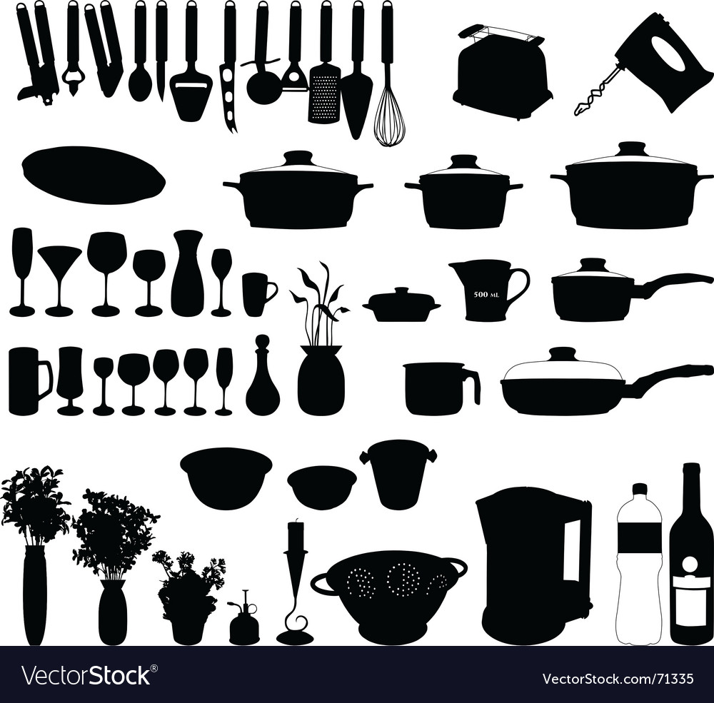 Kitchen objects vector