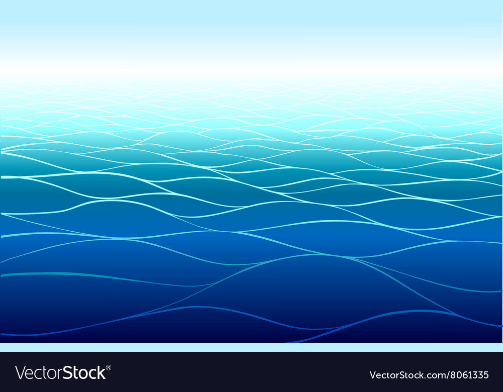 Seamless horizontal sea background vector