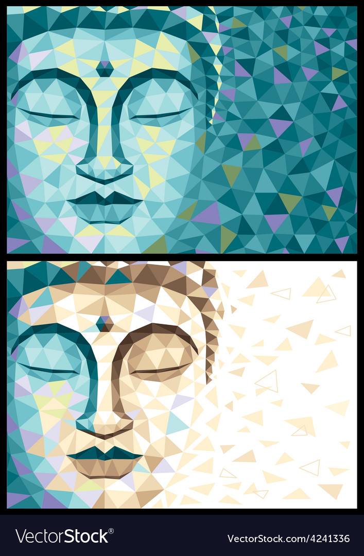 Low poly buddha vector