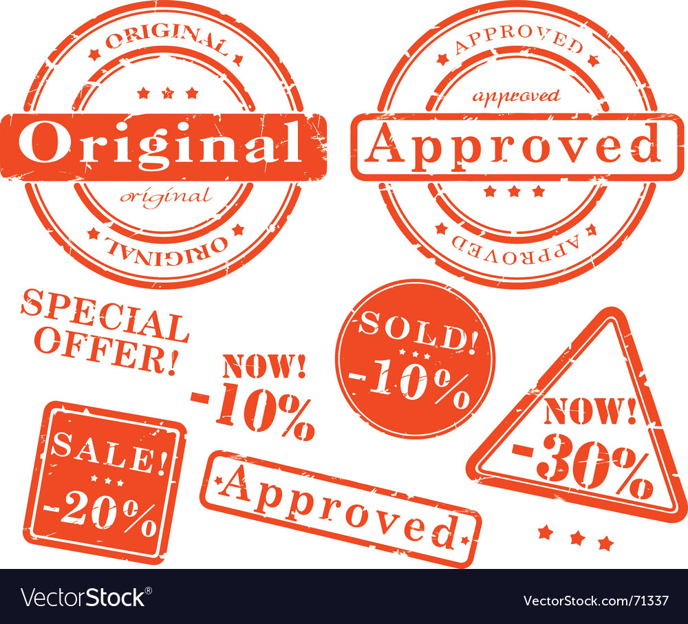 Sale stamp set vector