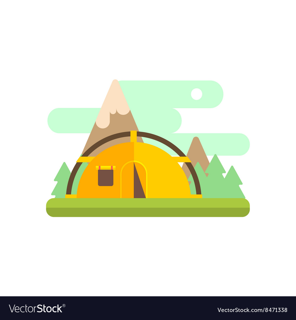 Mountsin camping vector