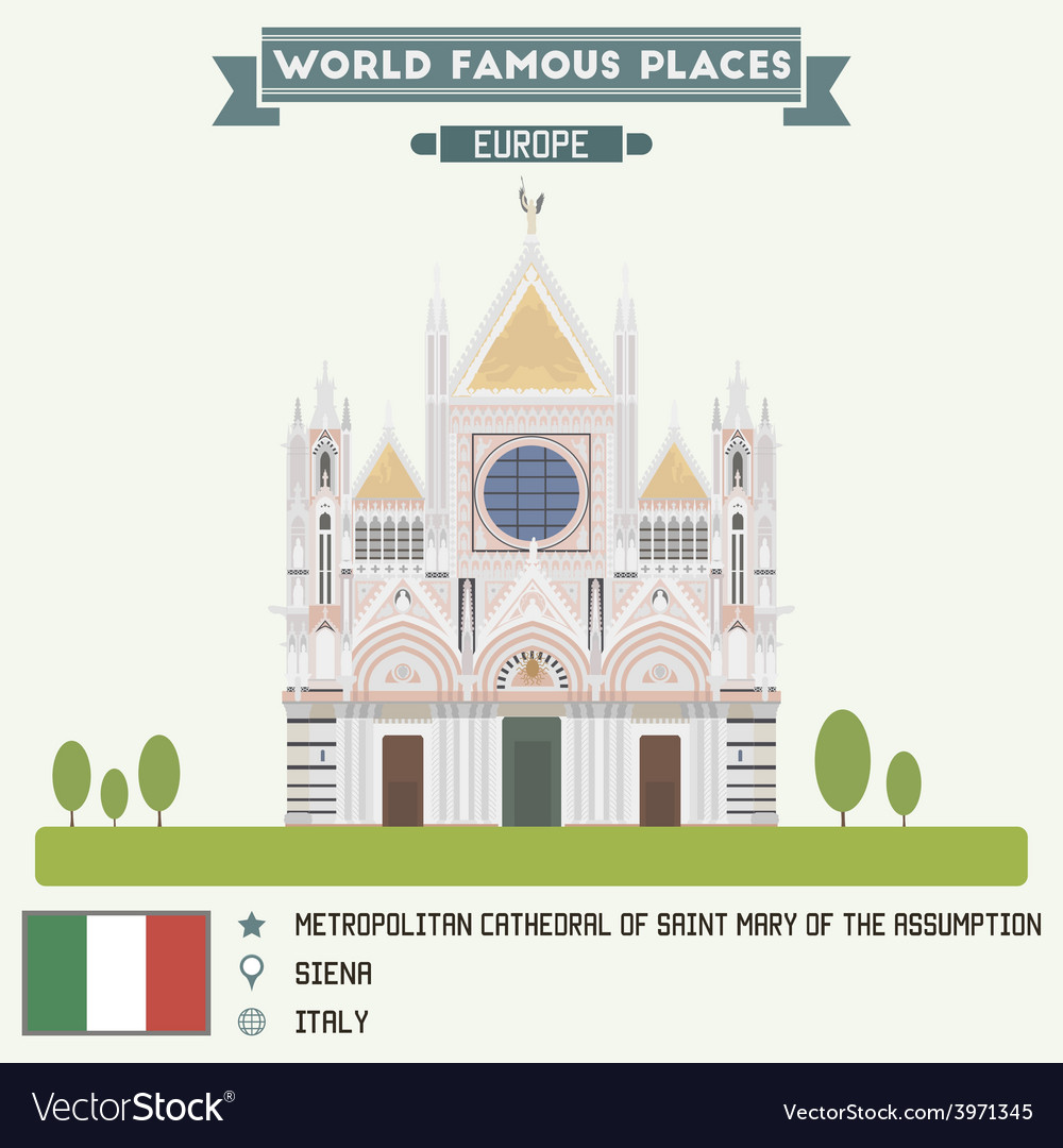 Cathedral of saint mary siena vector
