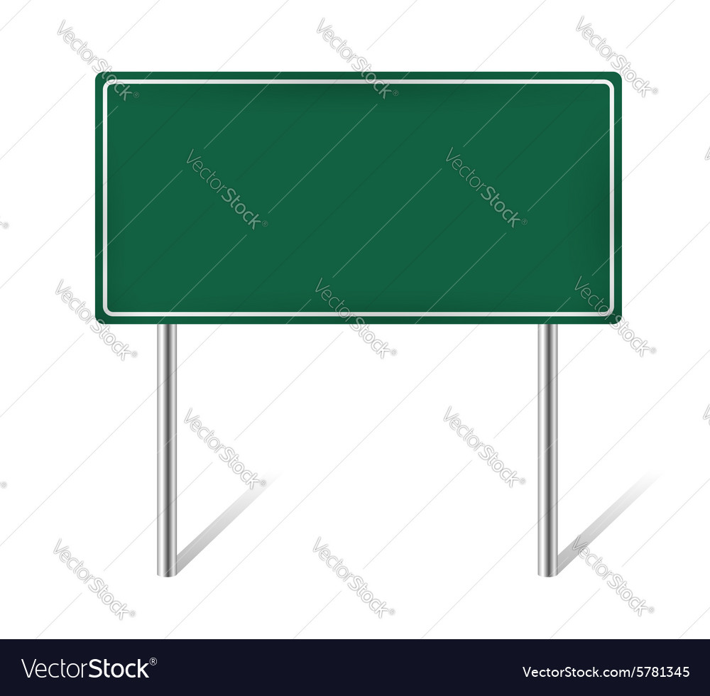 Green blank information sign vector