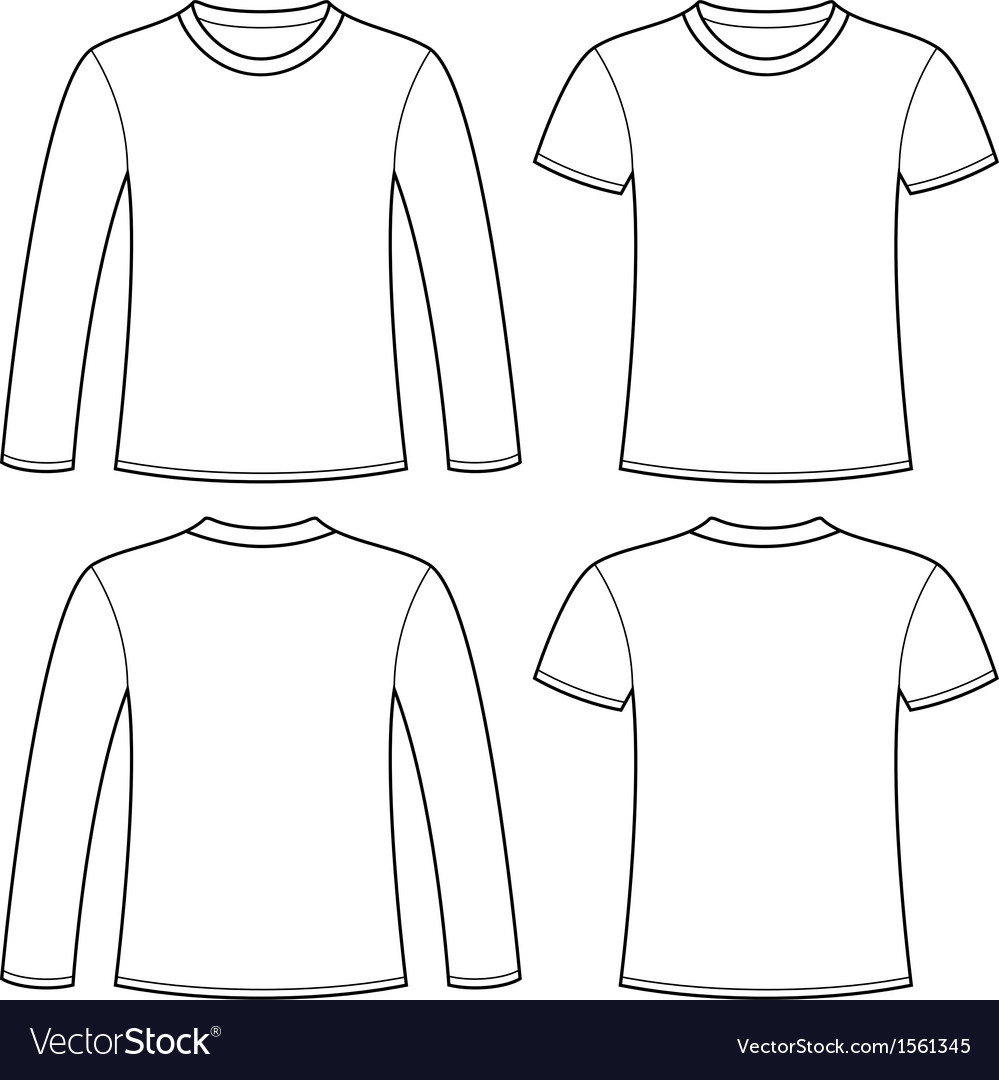 Longsleeved tshirt and tshirt template vector