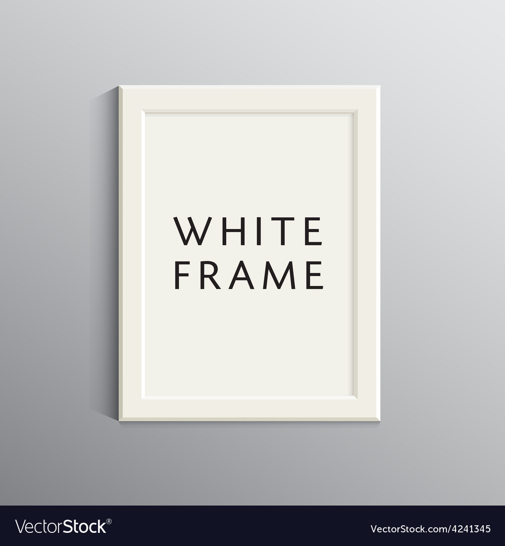White 3d frame for a4 vector