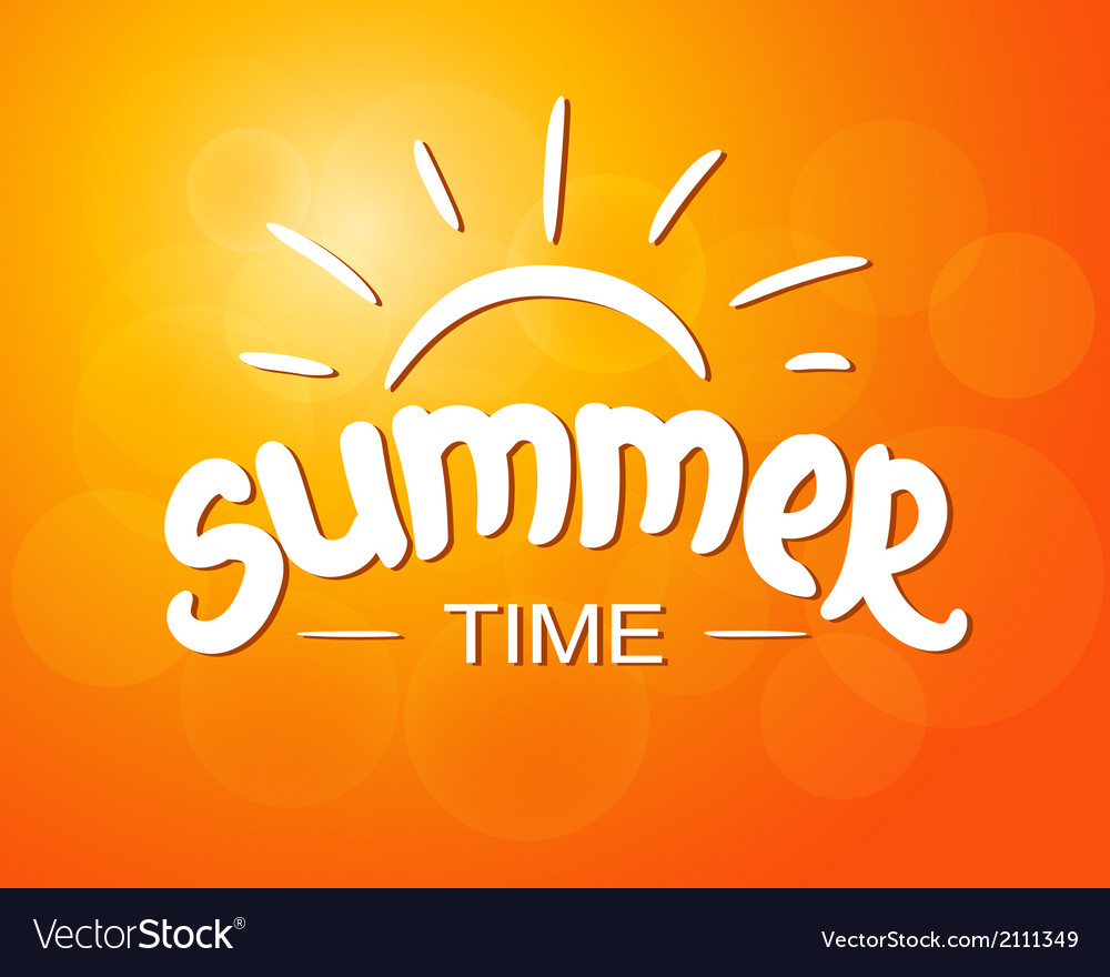 Summer time  typographic design vector