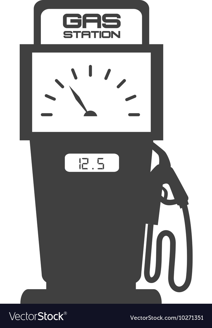 Gas pump station vector