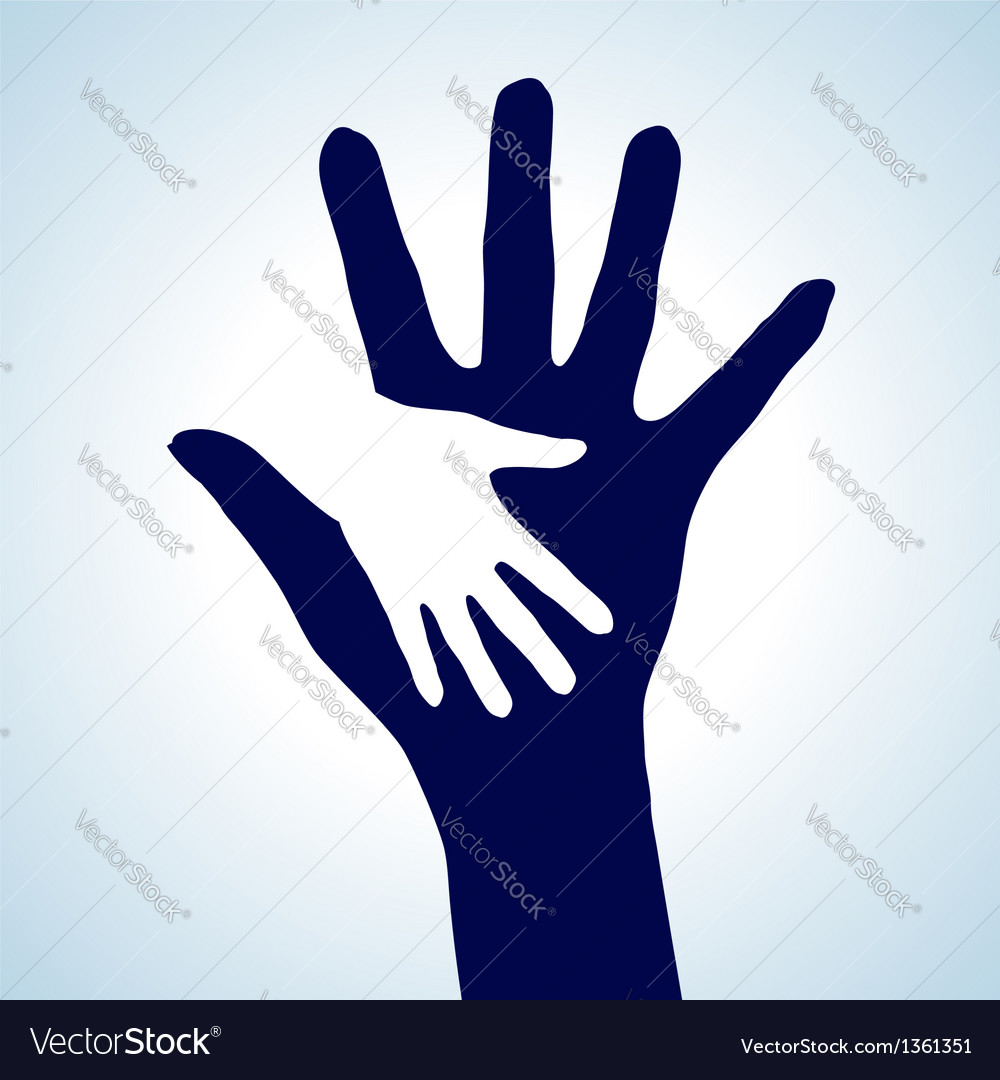 Helping hands vector