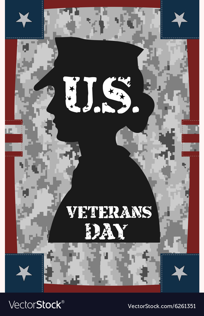 Veterans day vintage poster vector