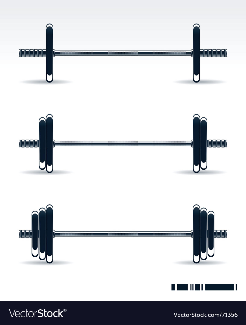 Bodybuilding equipment vector