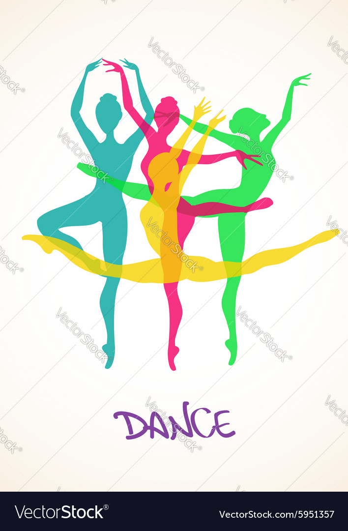 With ballet dancers vector