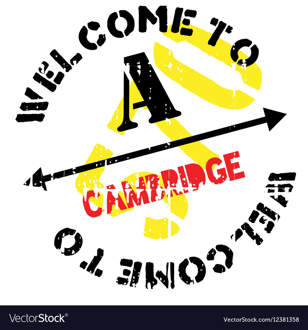 Cambridge stamp rubber grunge vector