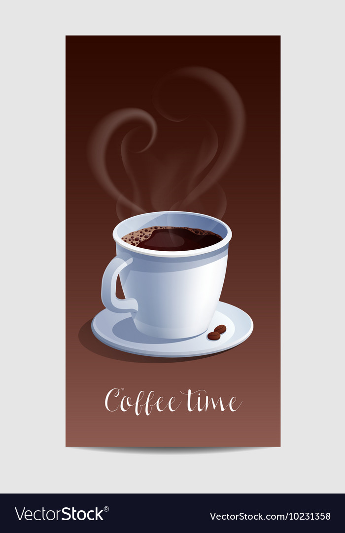 Coffee time banner with coffee cup vector