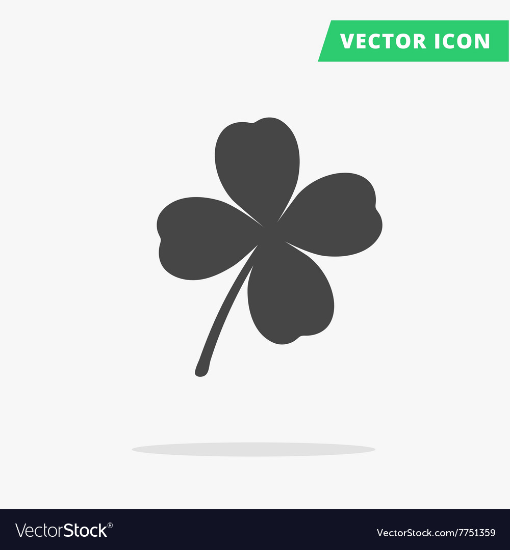 Clover silhouette sign good luck vector