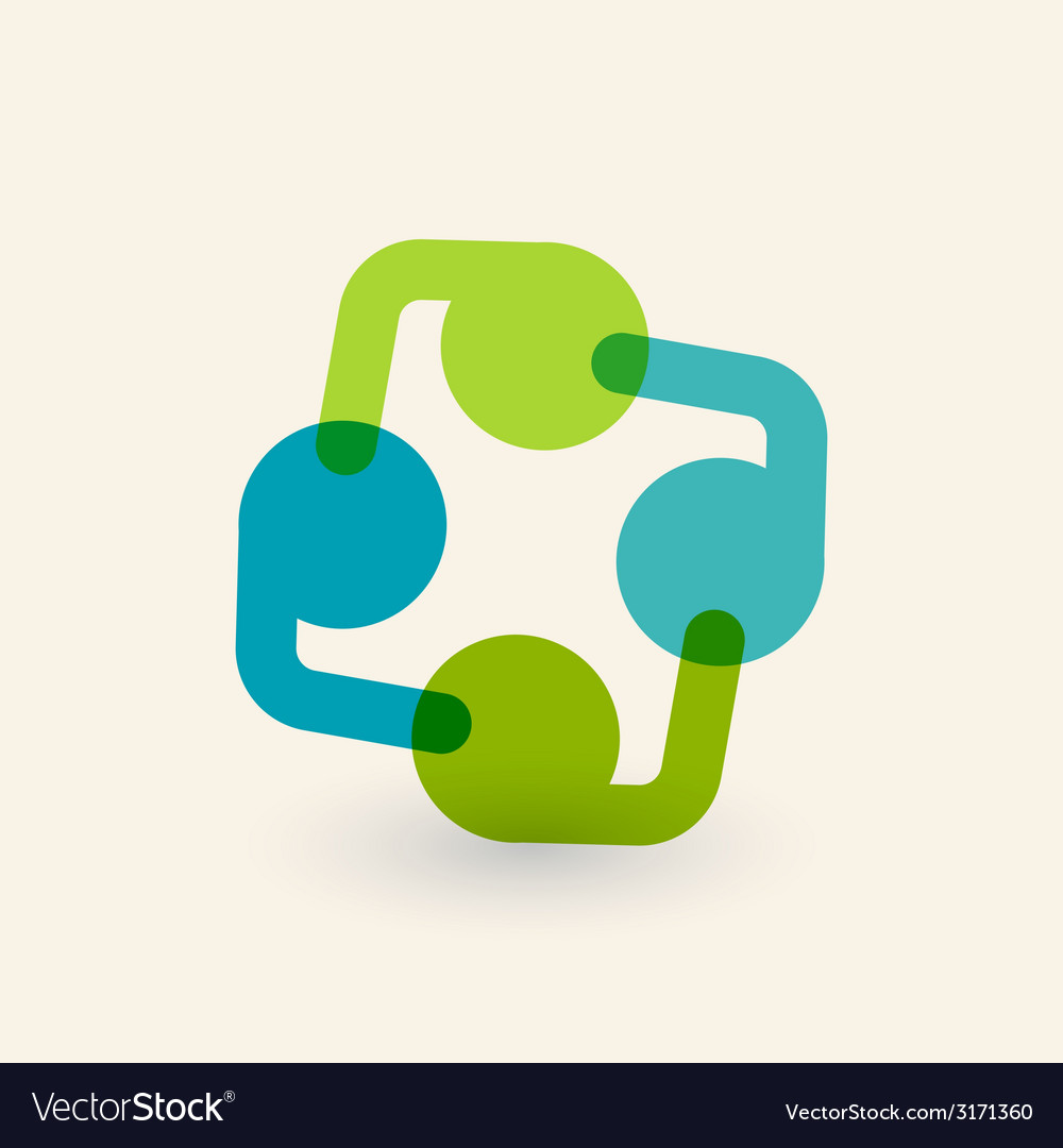 Cooperation and partnership icon logo design vector