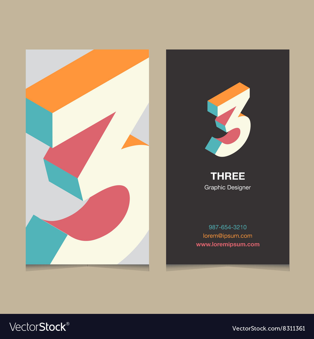 Business card number 3 vector