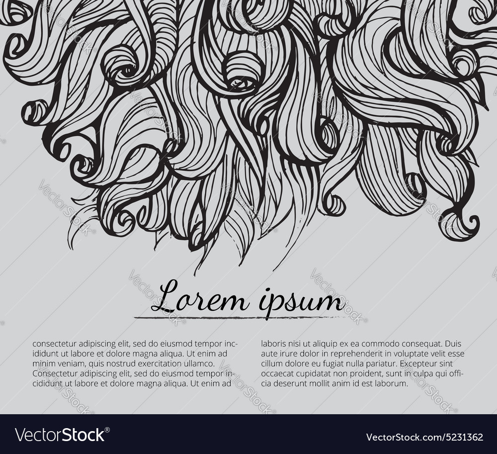 Black and white abstract handdrawn pattern vector