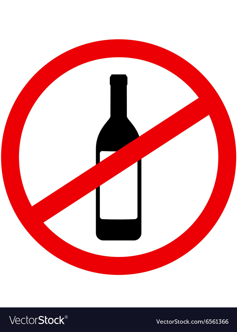 Sign stop alcohol vector