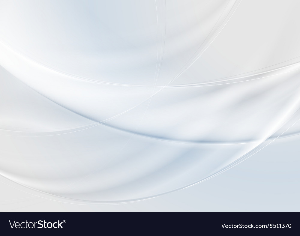 Abstract grey pearl and blue waves background vector