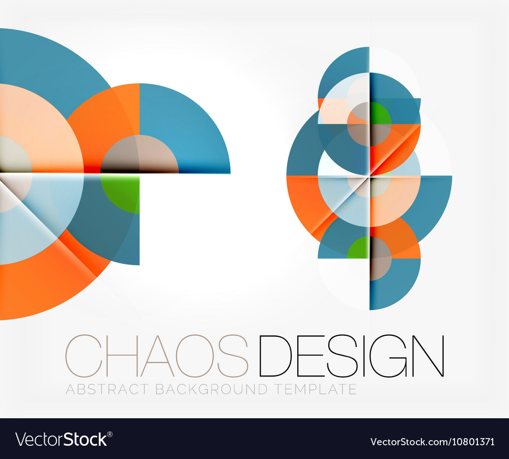 Abstract background with round shapes vector