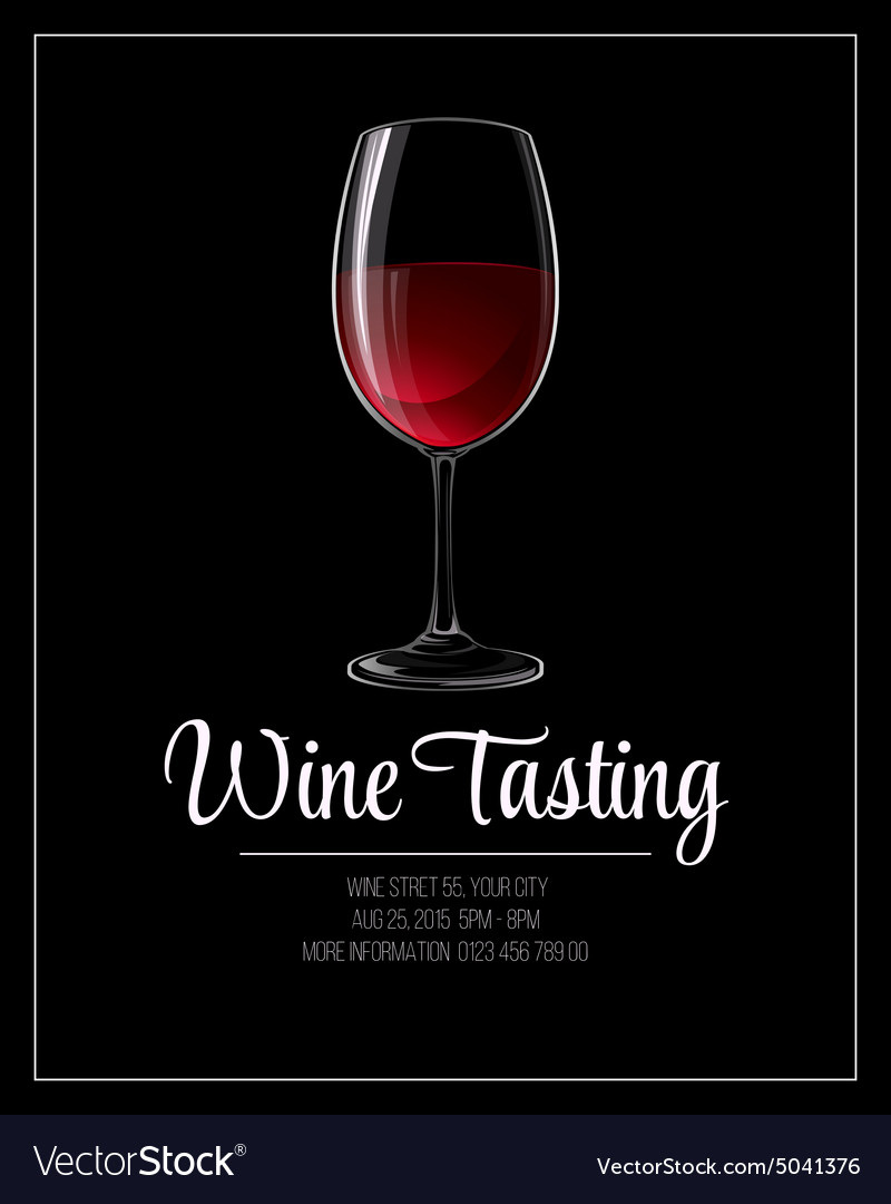Wine tasting flyer template vector