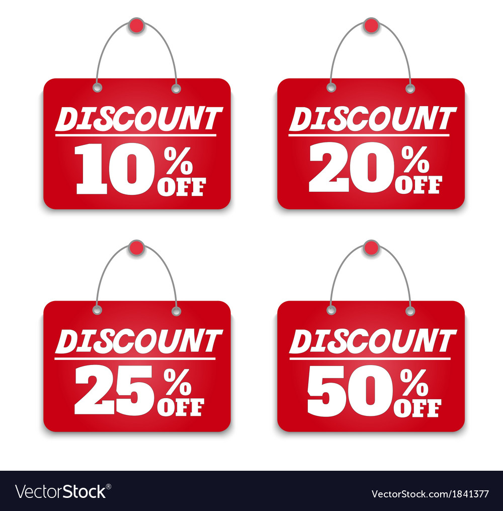 Sign board discount vector