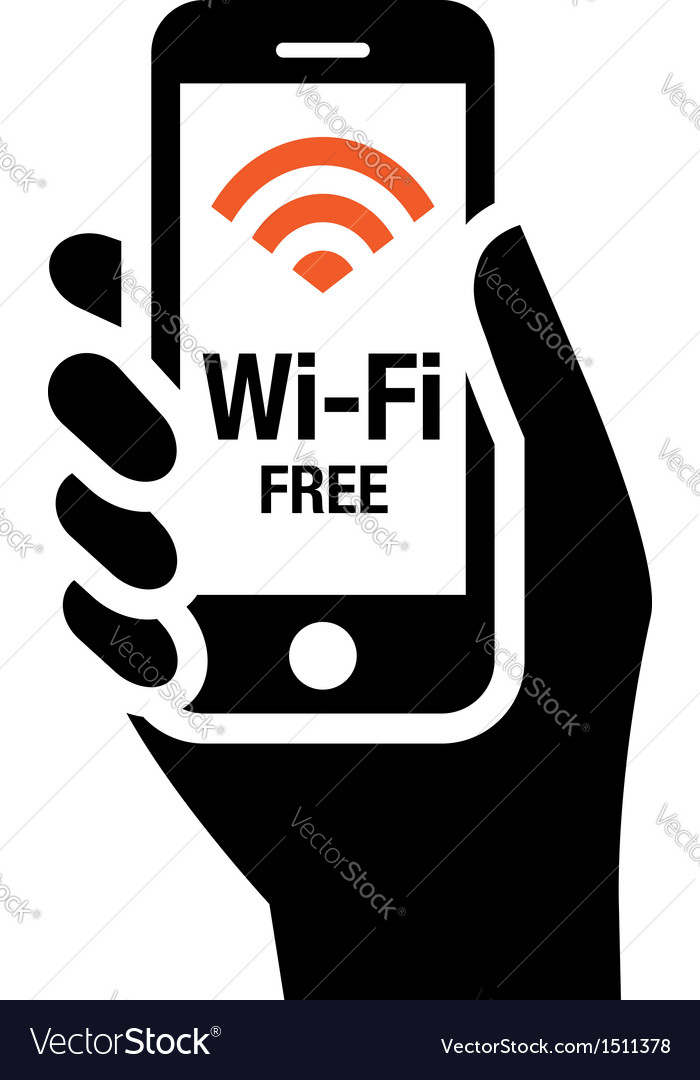 Wifi free icon vector