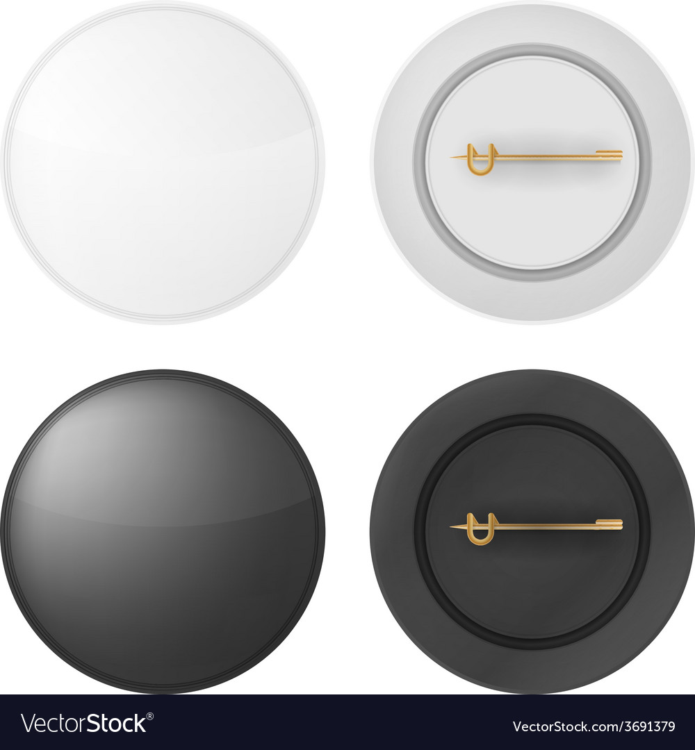 Blank badges vector