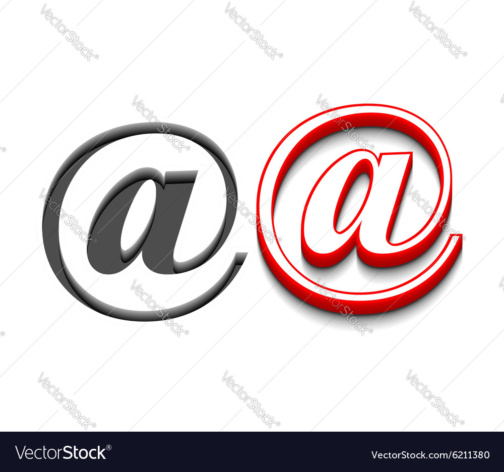 Email sign design vector