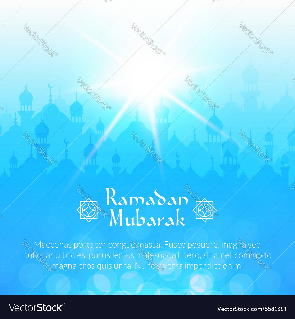 Light landscape wallpaper with mosques vector