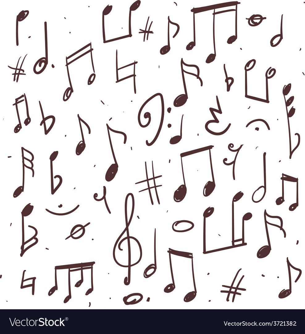 Set of music notes vector