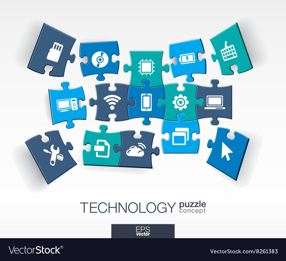 Abstract technology background connected color vector