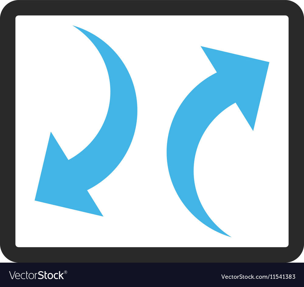 Exchange arrows framed icon vector