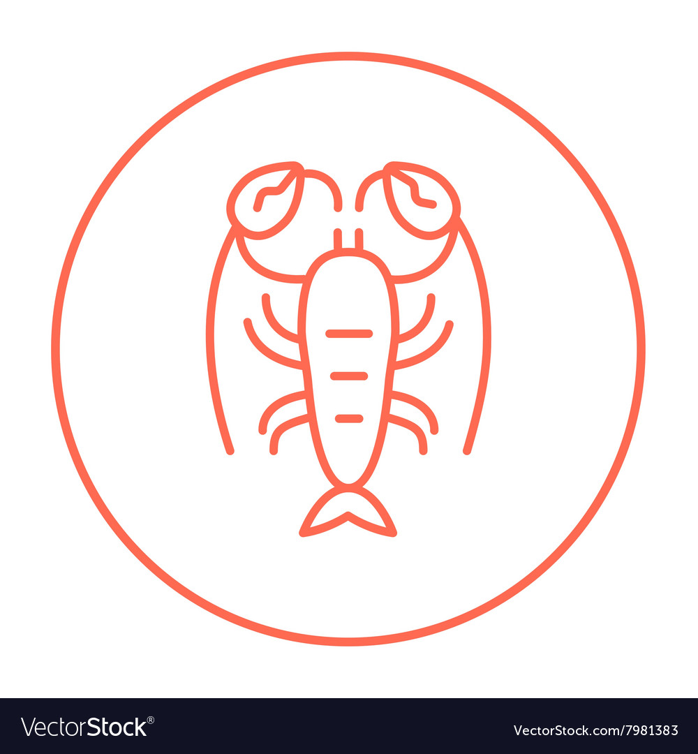 Lobster line icon vector