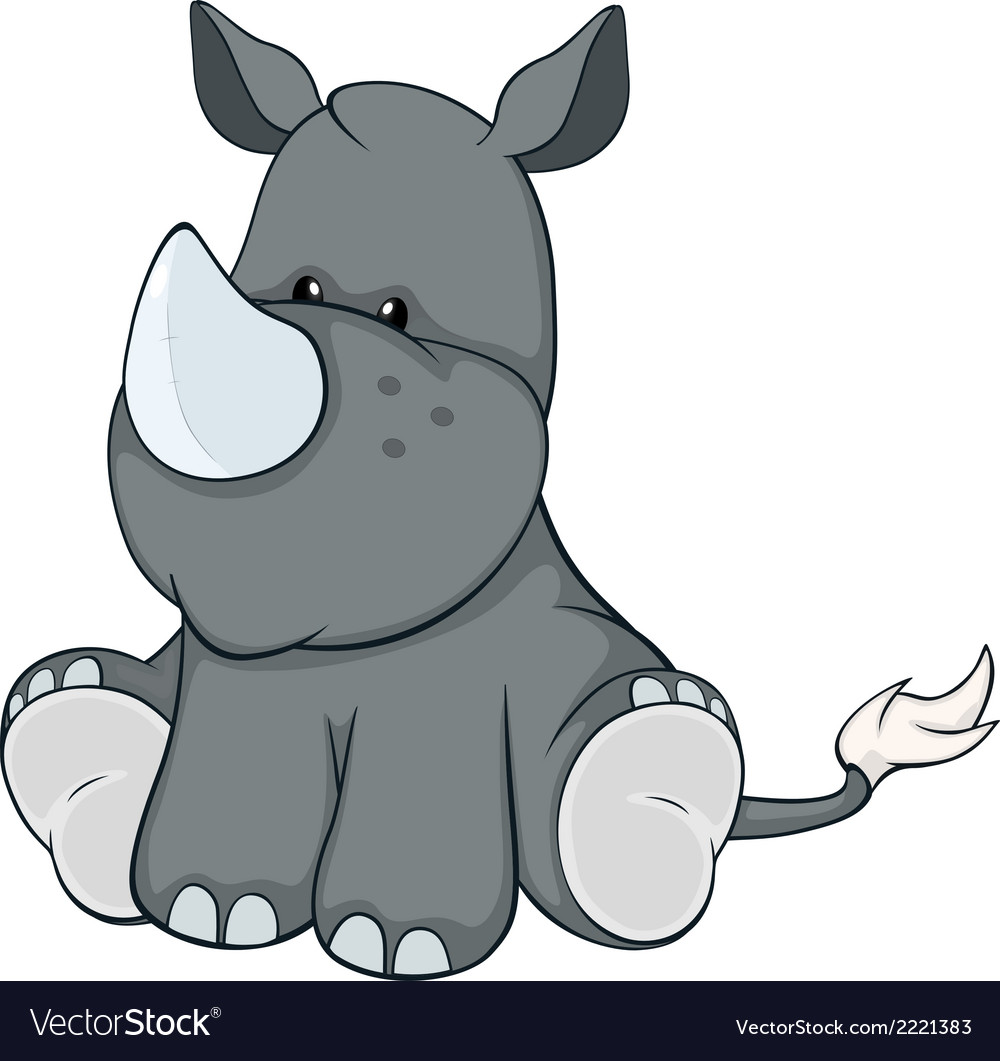 Stuffed toy rhinoceros cartoon vector