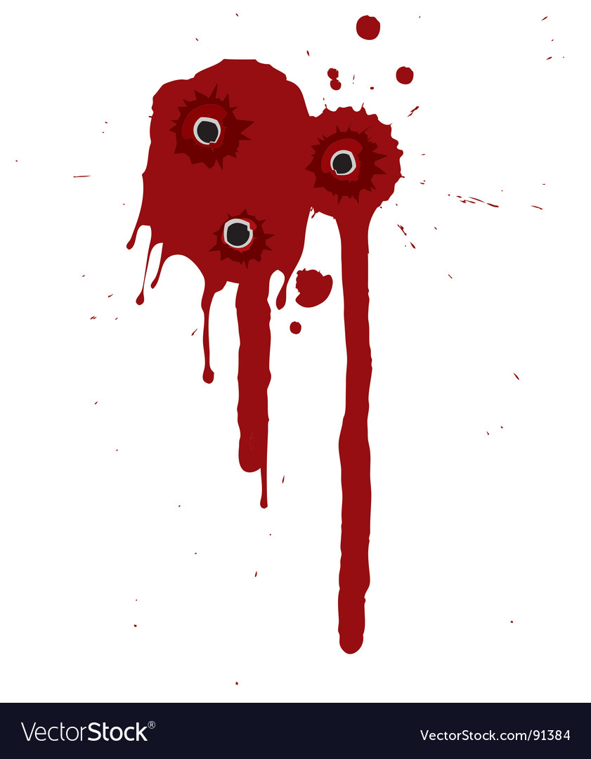 Blood splatter vector