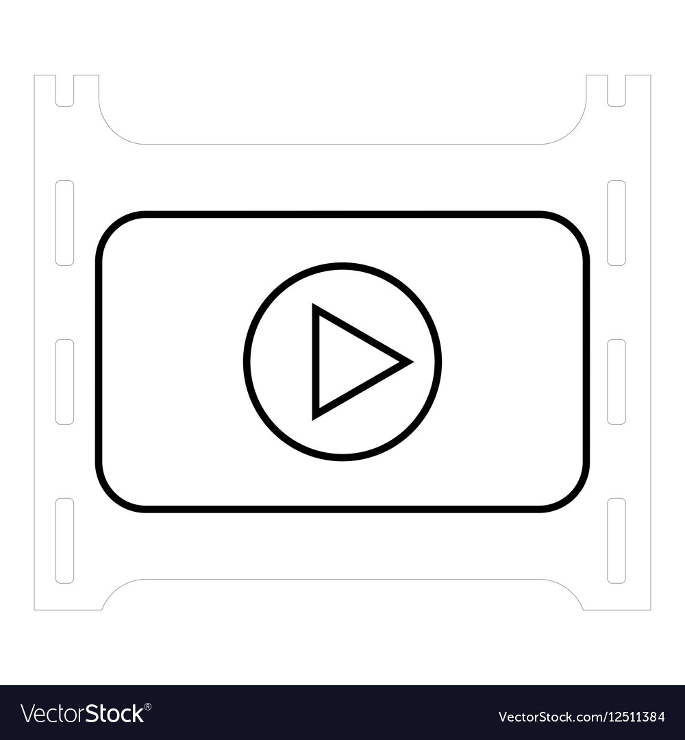 Play film icon outline style vector