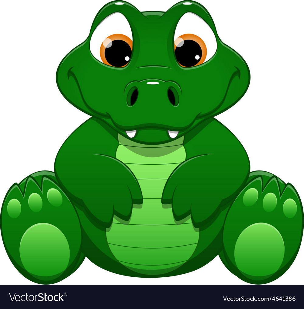 Little crocodile vector