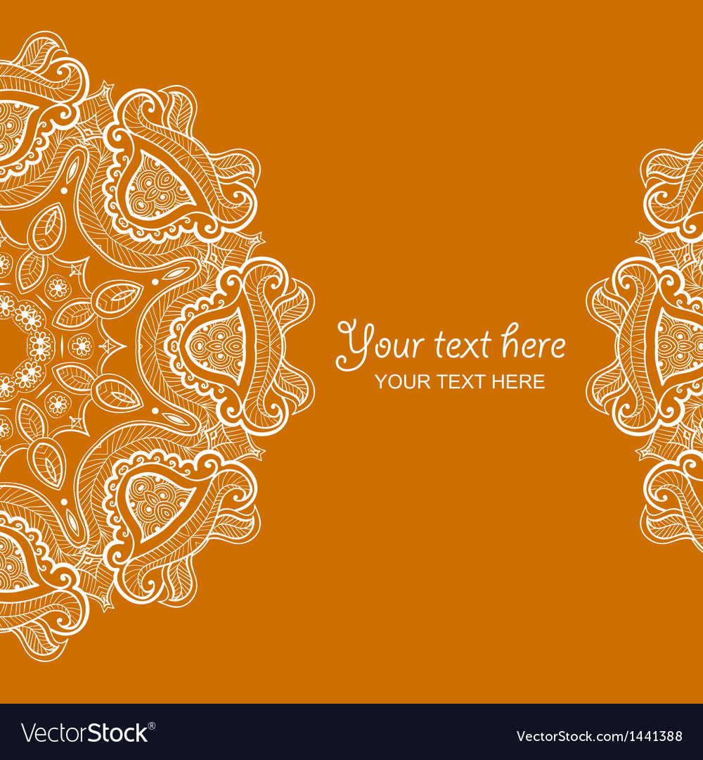 Invitation card with lace ornament 1 vector