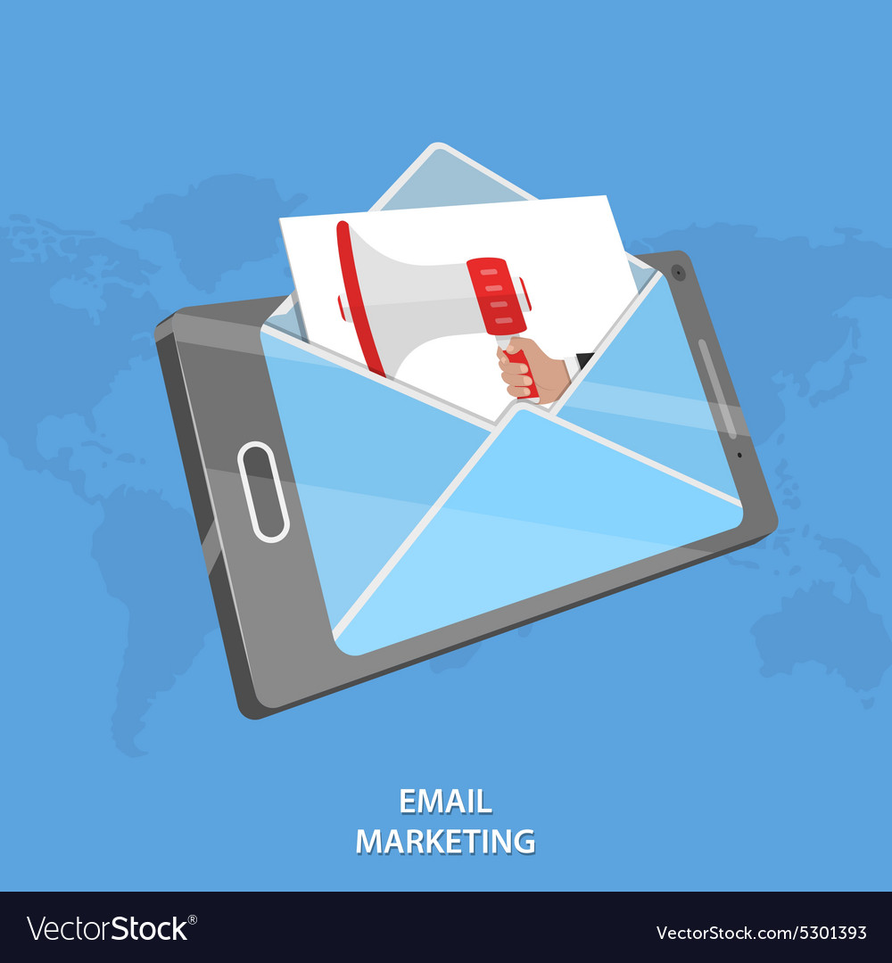 Email marketing conceptual vector
