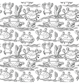 summer seamless pattern with crabs vector image vector image