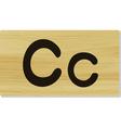 wooden letter C vector image vector image