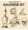 Hand Drawn Halloween characters set vector image vector image