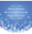Merry christmas and new year greeting festive card vector image