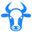 cow head icon grunge watermark vector image