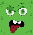 funny cartoon monster face emotion vector image