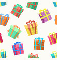 gift box seamless pattern vector image