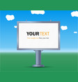 billboard the layout for your advertisement and vector image